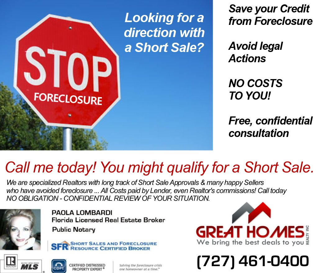 short sale solution Great Homes Realty short sale certification experts solutions to foreclosure